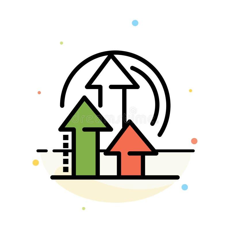 Ledning metod, kapacitet, för färgsymbol för produkt abstrakt plan mall stock illustrationer