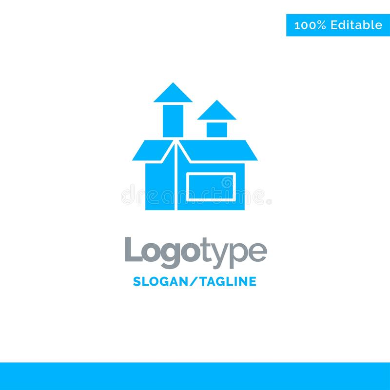 Ledning metod, kapacitet, produkt blåa fasta Logo Template St?lle f?r Tagline vektor illustrationer