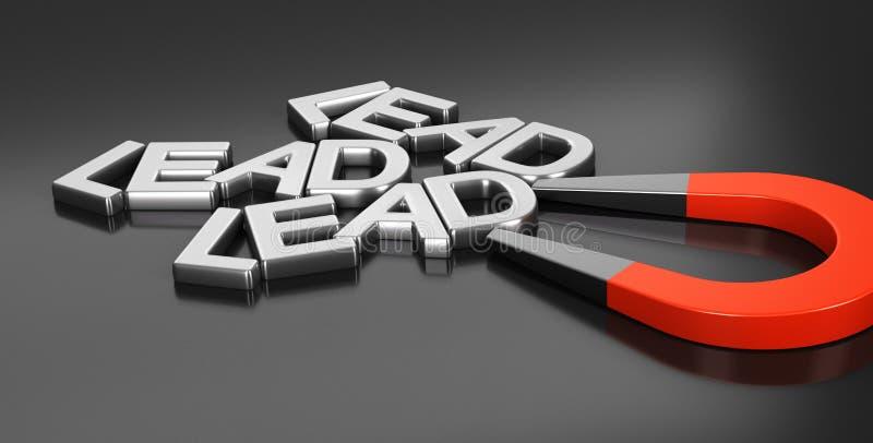 Ledningsförvärvstrategi stock illustrationer