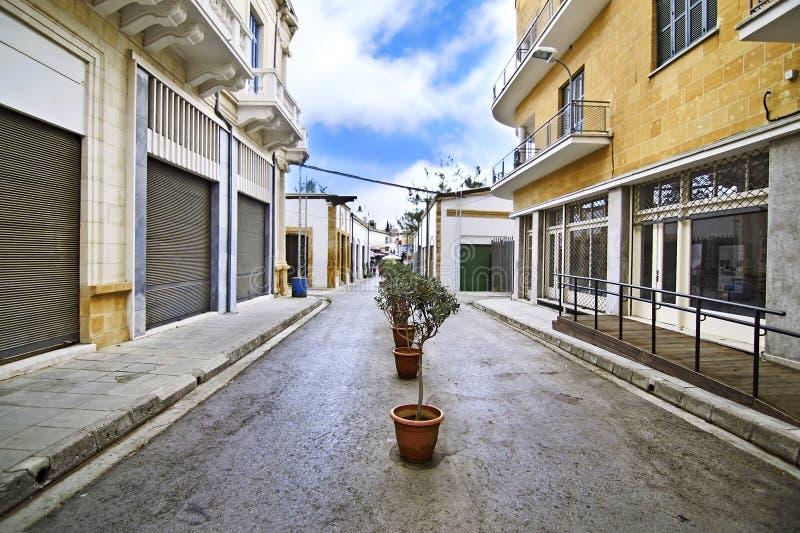 Ledras street between Nicosia Cyprus and occupied Cyprus stock image
