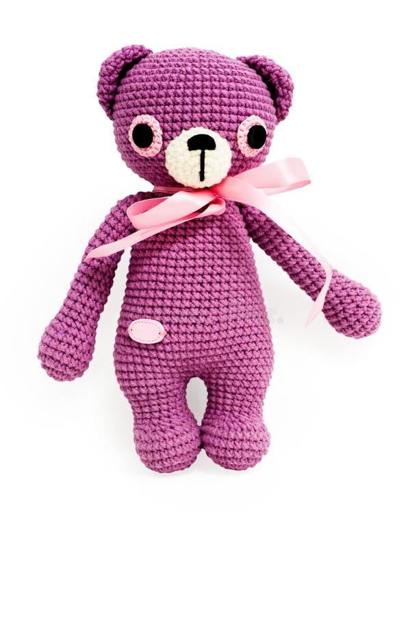 """Ledsen björn för stucken leksak†"""" royaltyfri foto"""