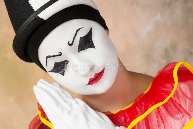 Ledsen clown arkivbild