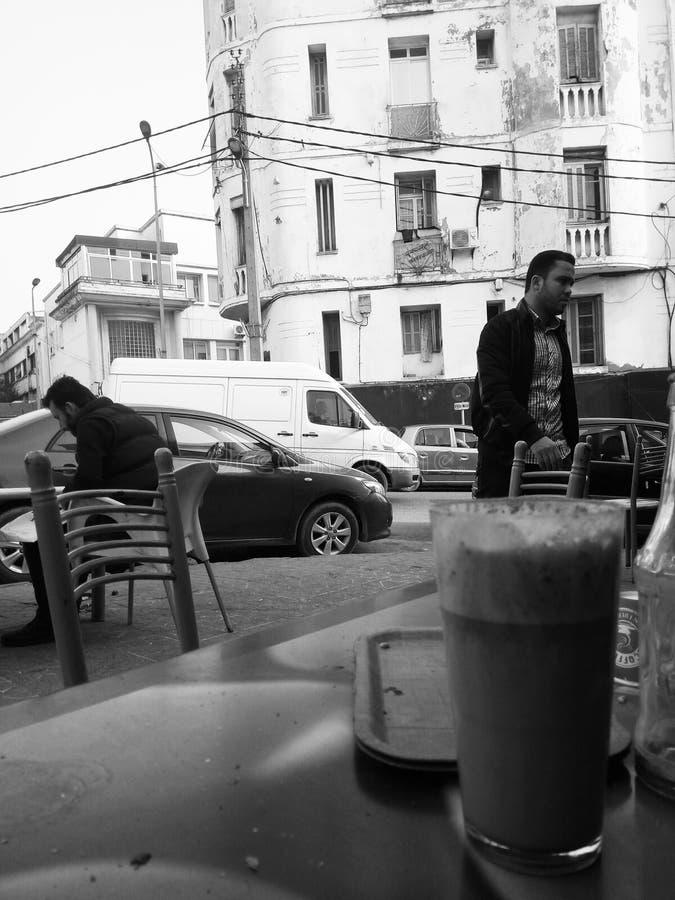 Ledsen cofee royaltyfri foto