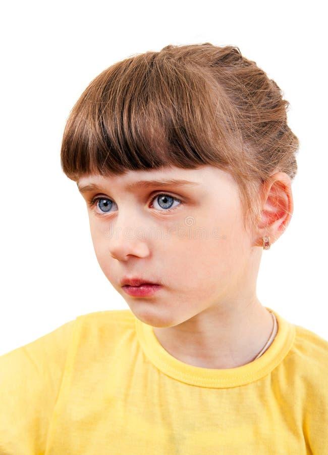 Ledsen liten flickastående arkivbilder