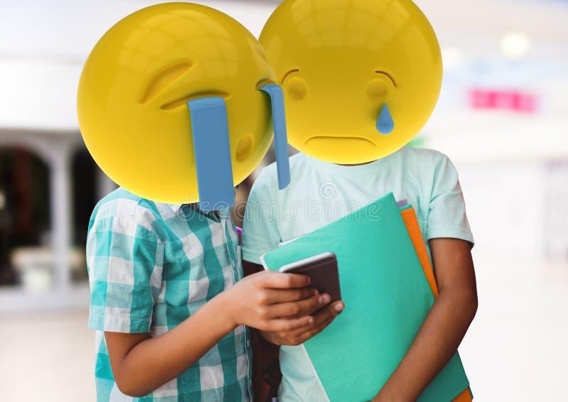 ledset meddelande för vännerna Emoji vänder mot vektor illustrationer