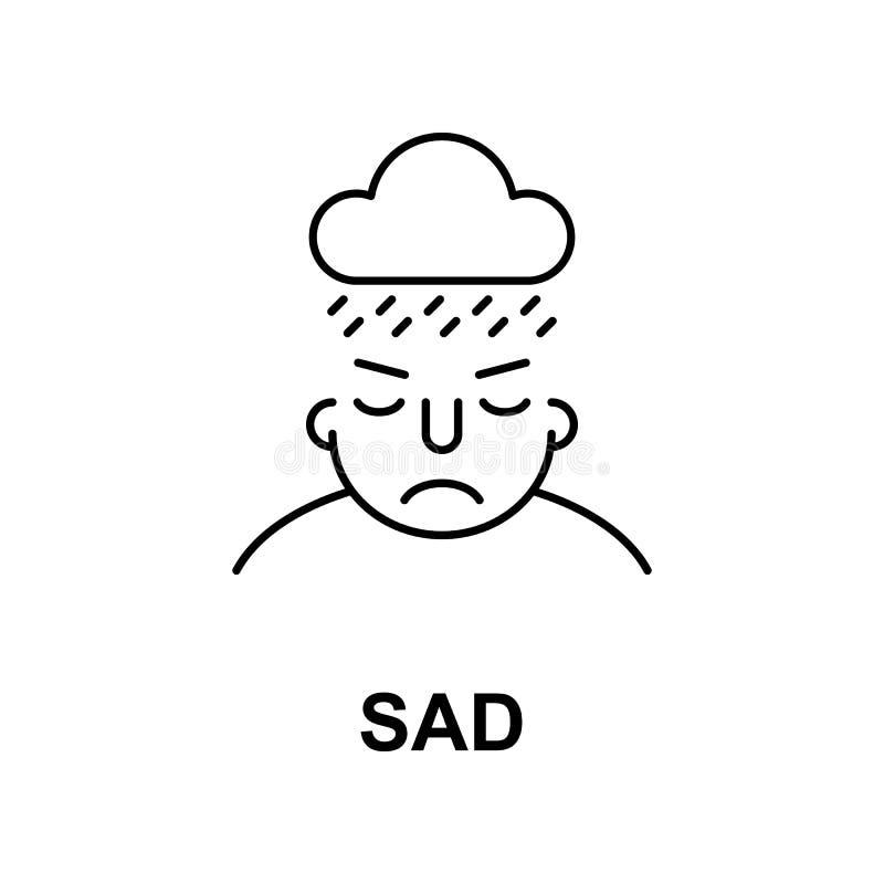 ledset på meningssymbol Beståndsdel av symbolen för mänsklig mening för mobila begrepps- och rengöringsdukapps Den tunna linjen s vektor illustrationer