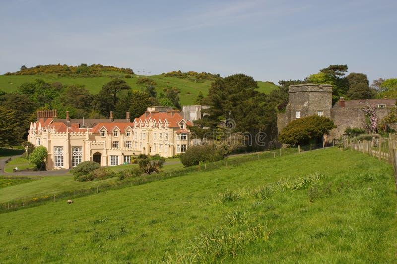 Lee Abbey norr Devon, England royaltyfri foto