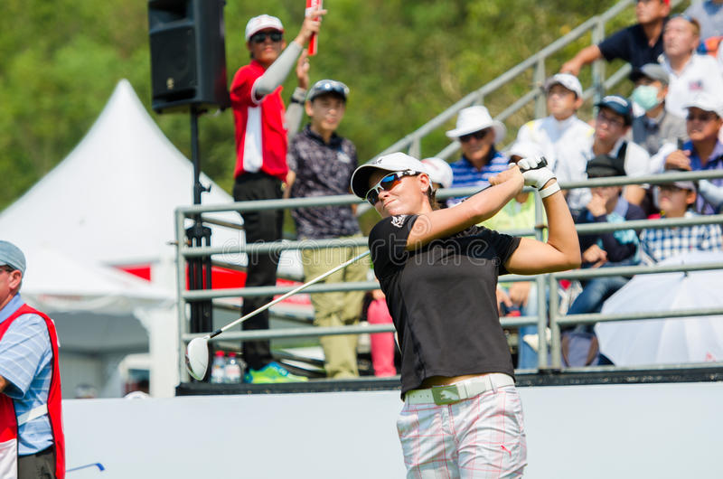 Lee_ Anne Pace de Suráfrica en Honda LPGA Tailandia 2016 imagenes de archivo
