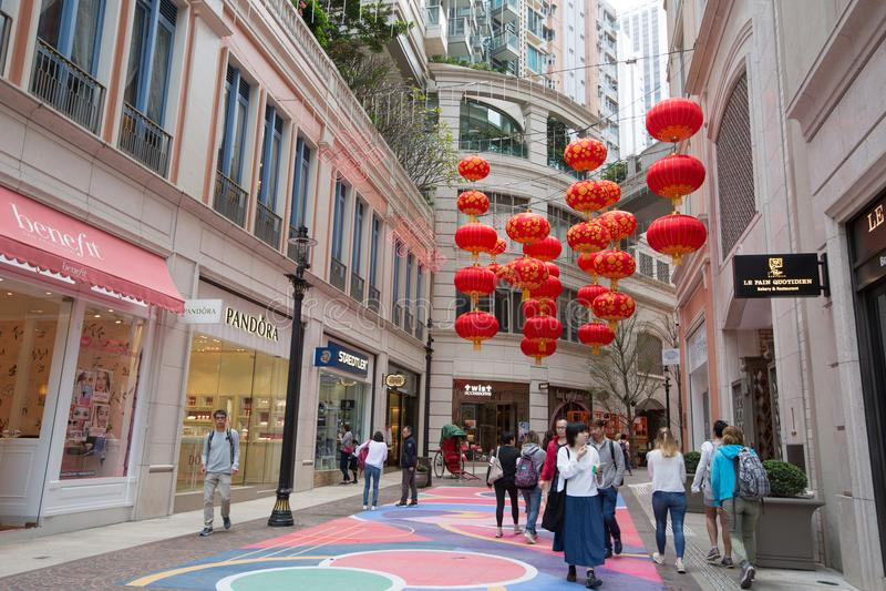 Lee Dzwonił aleję, Hong Kong zdjęcia stock