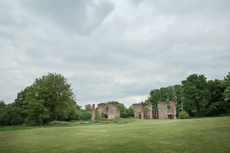 Lee hall sopwell nunnery. Ruins of an old building in Hertfordshire England stock photos