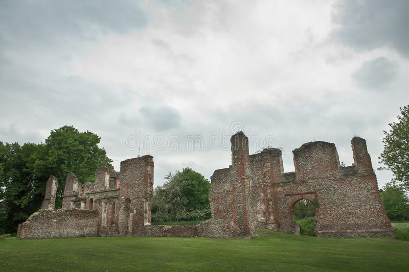Lee hall sopwell nunnery. Ruins of an old building in Hertfordshire England royalty free stock photography
