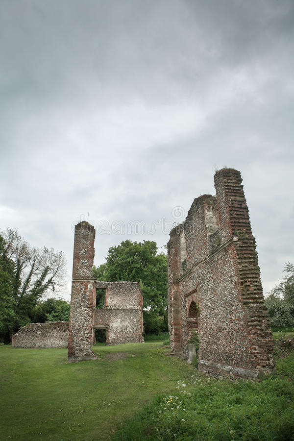 Lee hall sopwell nunnery. Ruins of an old building in Hertfordshire England royalty free stock photos