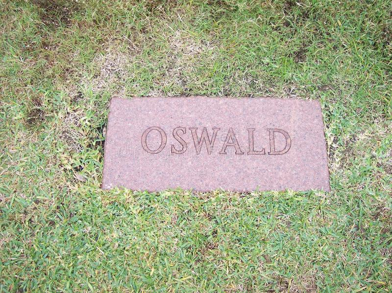 Lee Harvey Oswald Grave images libres de droits