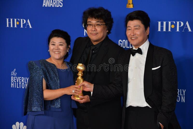 Lee Jeong-Eun, Bong Joon-Ho and Song Kang-Ho stock photos