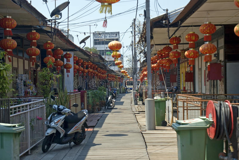 Lee Jetty, Georgetown, Penang, Maleisië royalty-vrije stock foto's