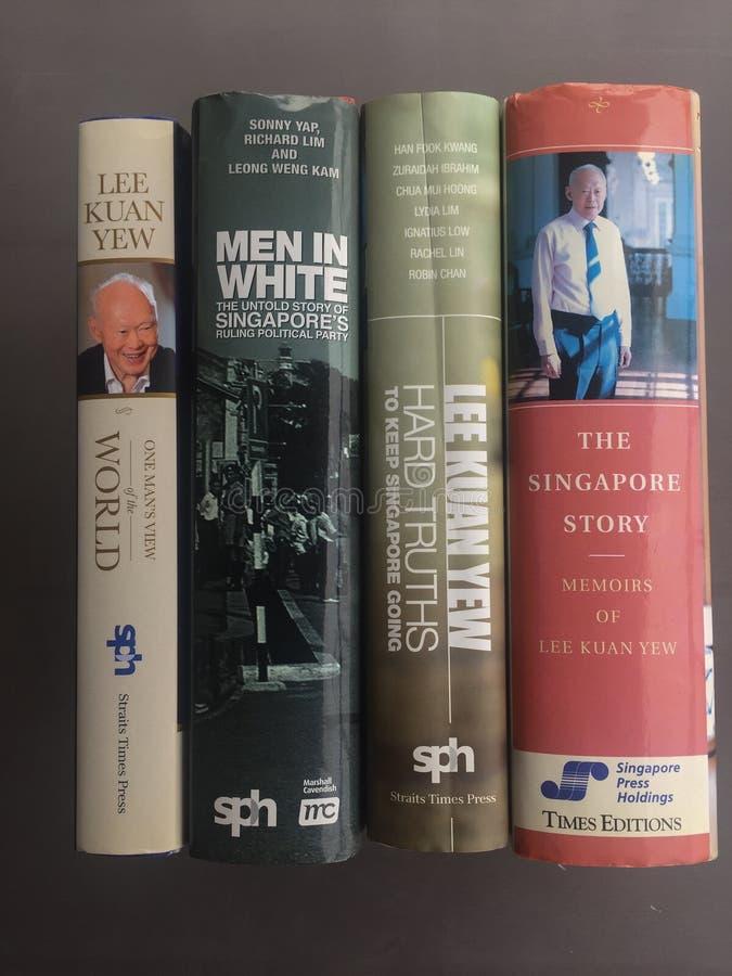 Lee Kuan Yew Memoirs imagem de stock
