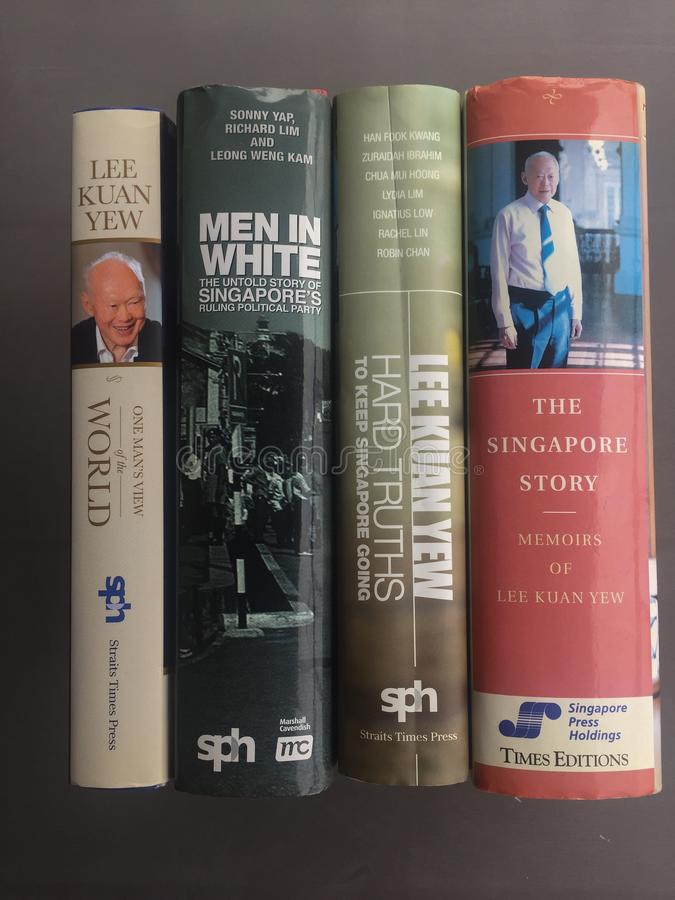 Lee Kuan Yew Memoirs stockbild