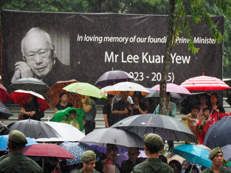 Download Lee Kuan Yew's Funeral Procession Editorial Image - Image: 52293420