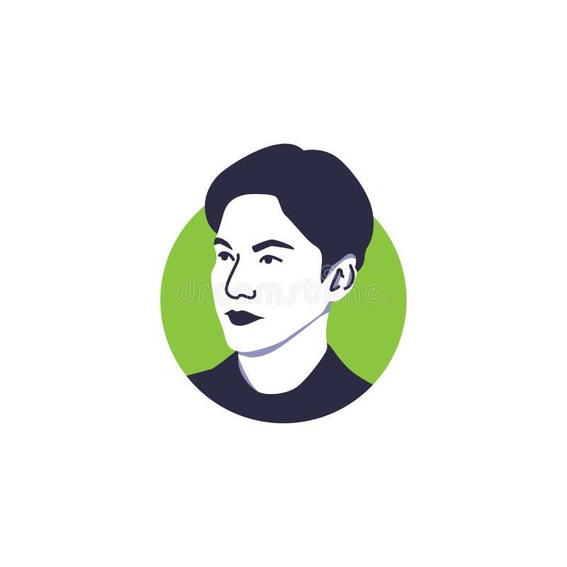 Lee Min Ho stellen lokalisierten Südkorea-Schauspieler des Vektors Illustration gegenüber lizenzfreie abbildung