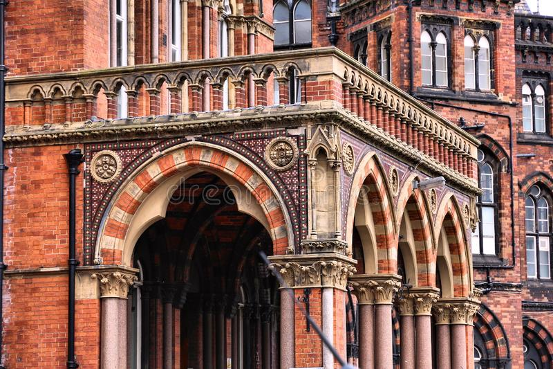 Leeds a énuméré le bâtiment image libre de droits