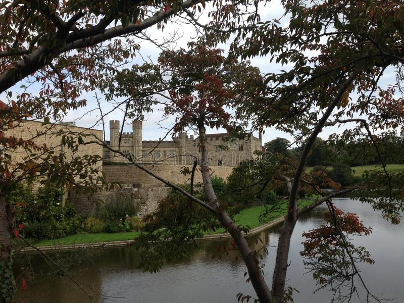 Leeds castle in Kent United Kingdom. Beautiful Leeds castle in Kent United Kingdom. It is known for it scenic beauty as well as architecture stock image
