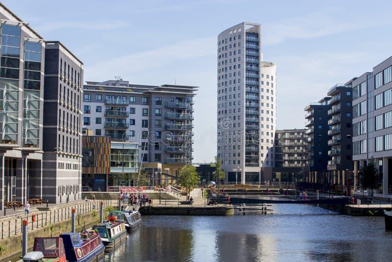 Leeds Dock waterfront Southbank Leed stock image