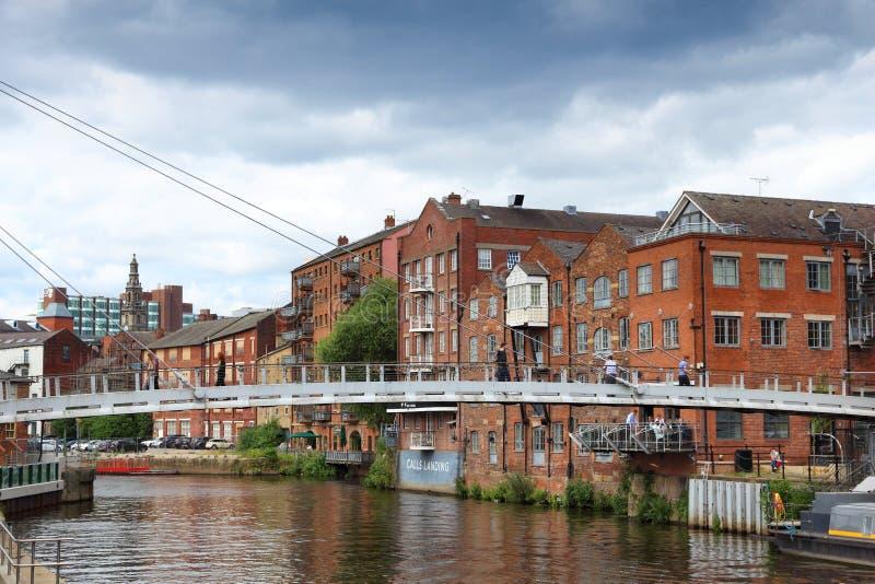 Leeds il fiume Aire fotografie stock
