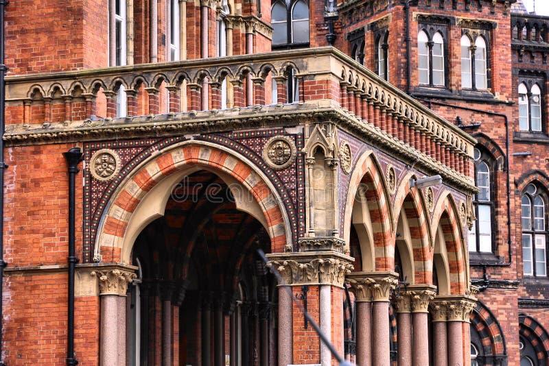 Leeds listade byggnad royaltyfri bild