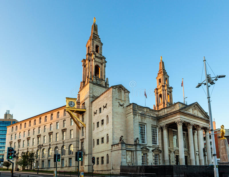 Leeds Salão cívico imagens de stock royalty free