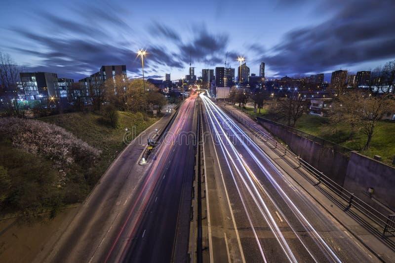 Leeds-Stadt-Skyline stockfotos
