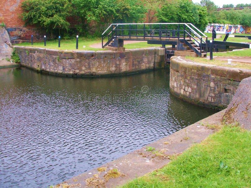 Leeds till banor för liverpool kanalcirkulering arkivfoton