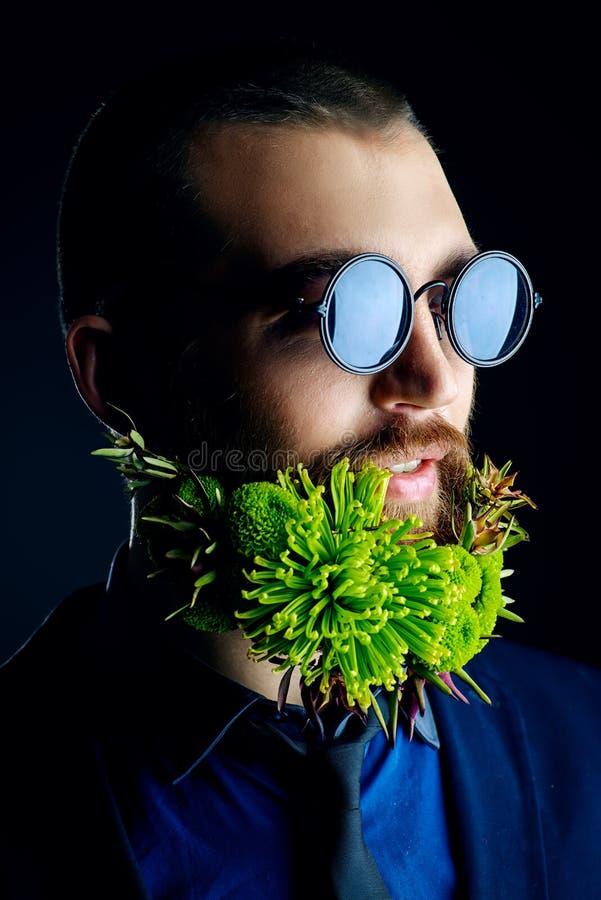 Leef baard stock foto