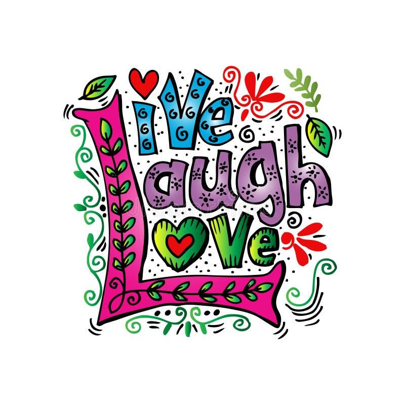 Leef de Liefde van de Lach royalty-vrije illustratie