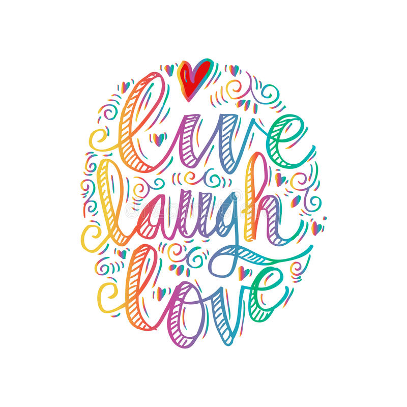 Leef de Liefde van de Lach stock illustratie