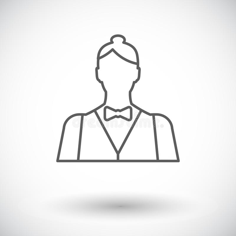 Leef handelaar vector illustratie