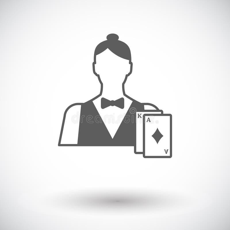 Leef handelaar royalty-vrije illustratie