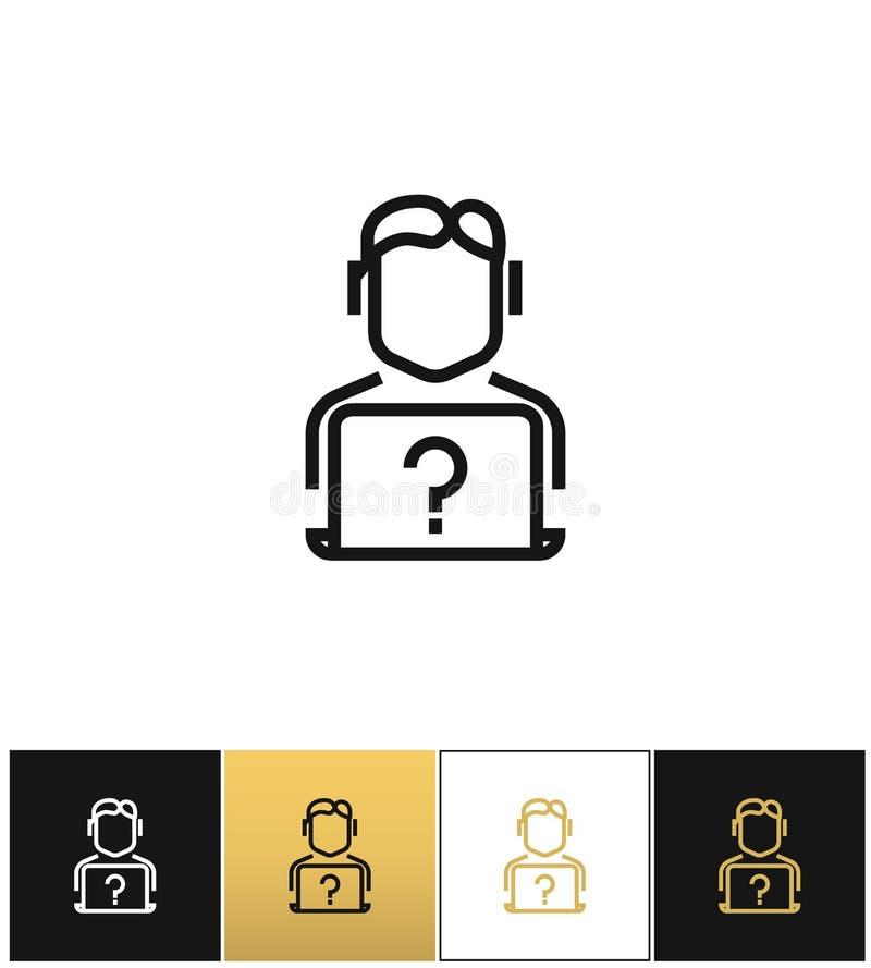 Leef het online van de de informatiehulp van de steunhotline vectorpictogram vector illustratie