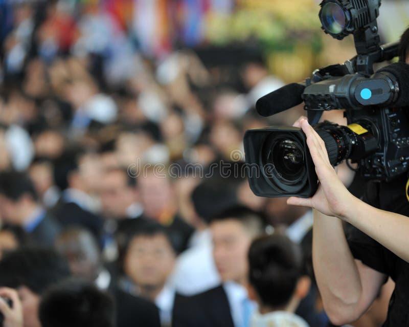 Leef uitzendend stock fotografie