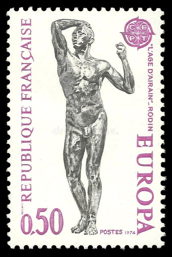 Leeftijd van Brons door Rodin royalty-vrije stock fotografie