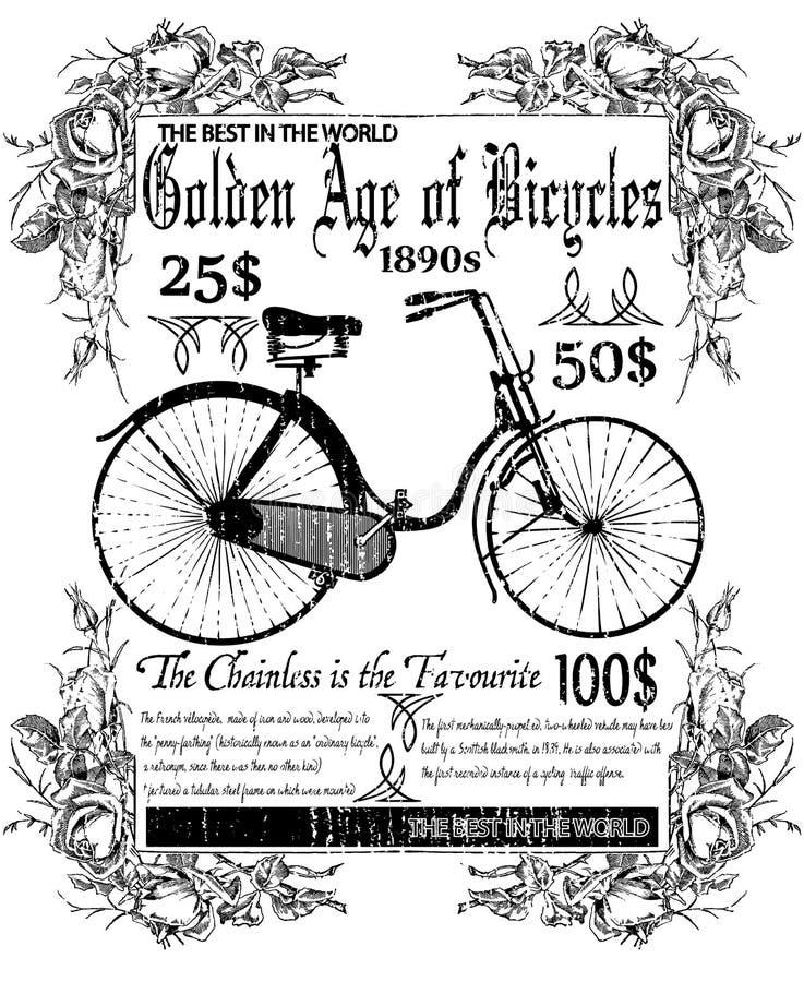 Leeftijd van fietsen stock illustratie