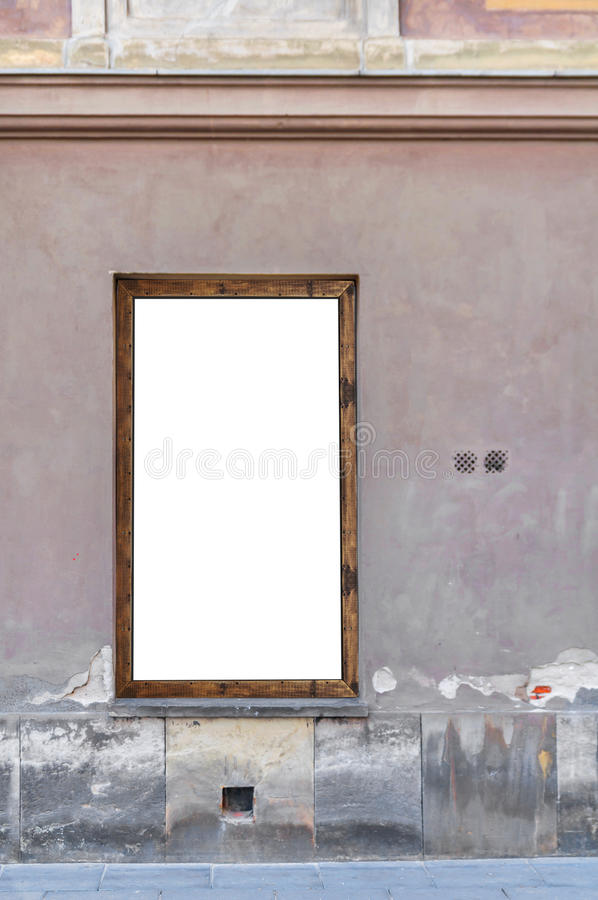 Leeg aanplakbord bij de bouw van muur op straat royalty-vrije stock foto's