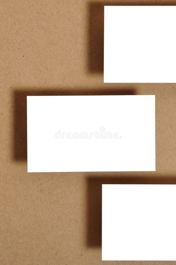 Leeg adreskaartje stock fotografie