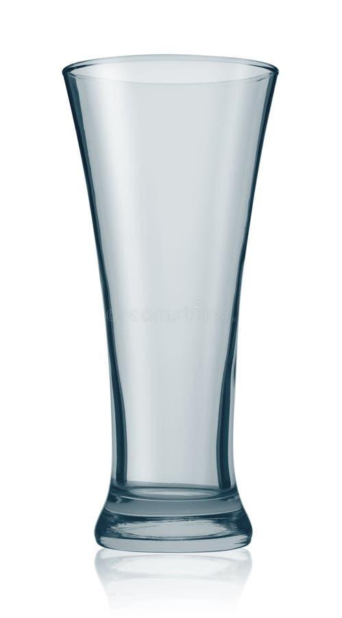 Leeg bierglas stock afbeeldingen
