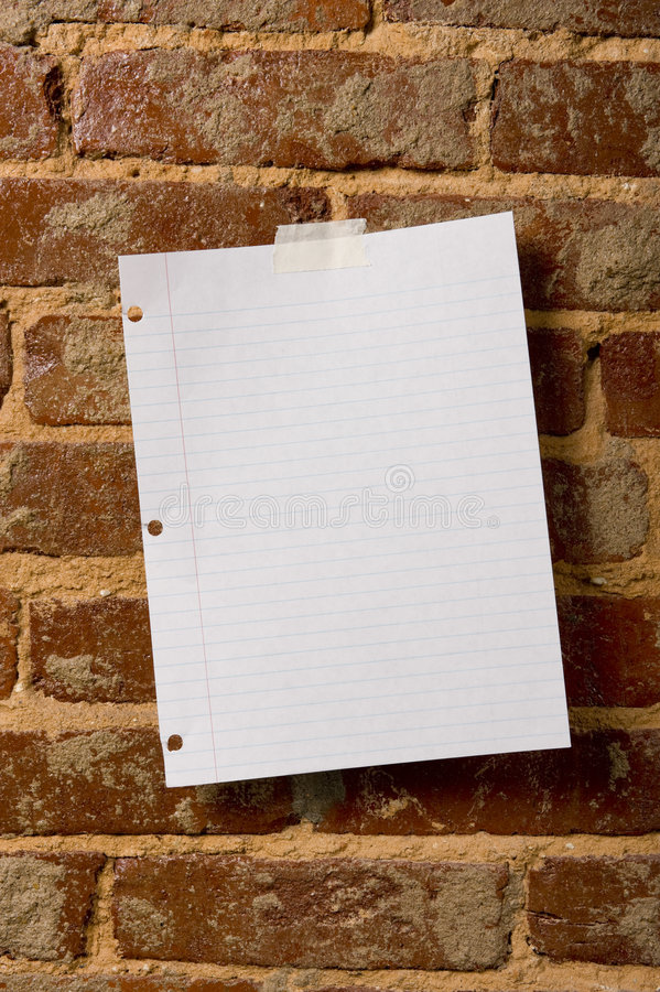 Leeg Blad van Document stock foto