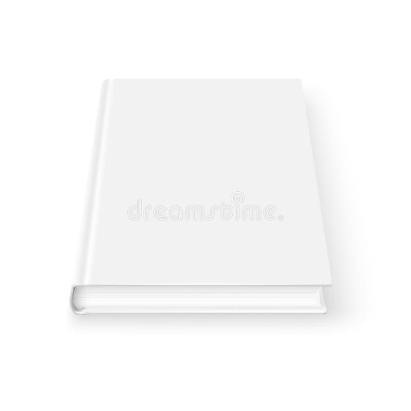 Leeg boekmalplaatje. royalty-vrije illustratie