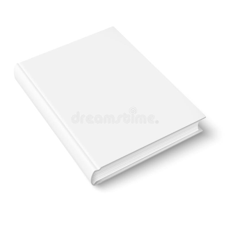 Leeg boekmalplaatje. stock illustratie