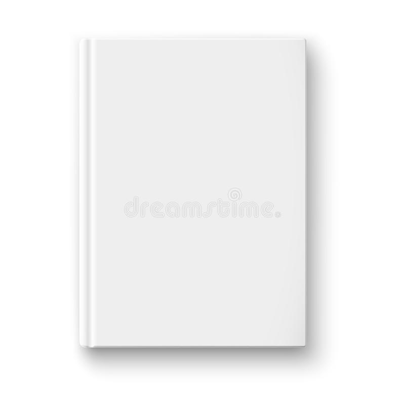 Leeg boekmalplaatje met zachte schaduwen. vector illustratie