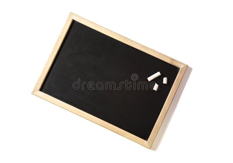 Leeg bord met krijt stock foto