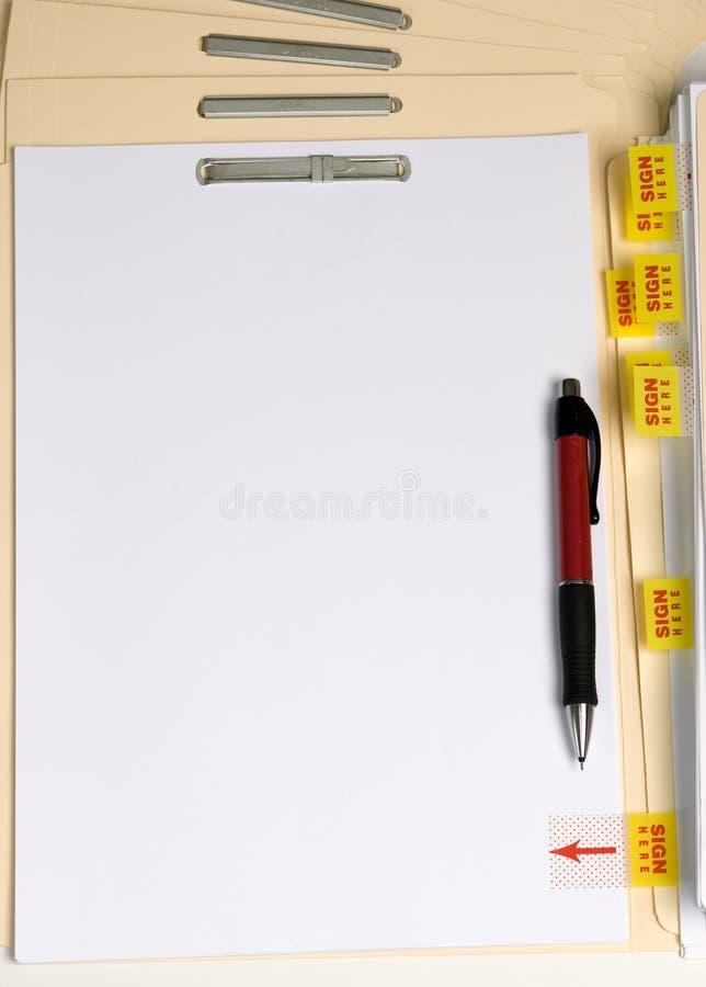 Leeg Brief en Teken stock afbeelding