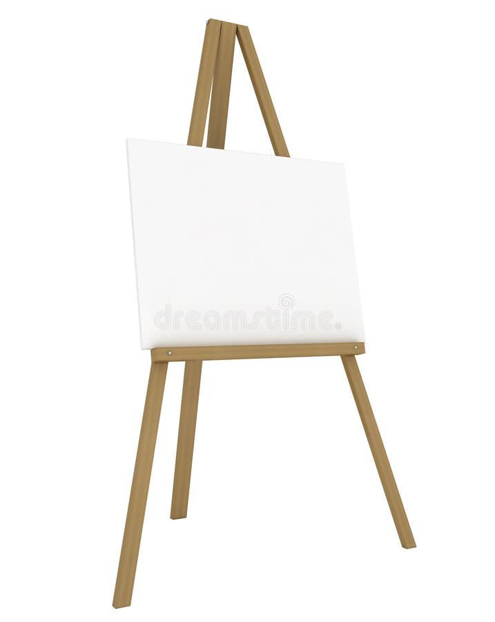 Leeg Canvas op een Schildersezel stock illustratie